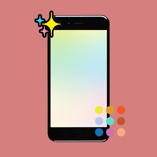 colourful stars and gradients on phone preview