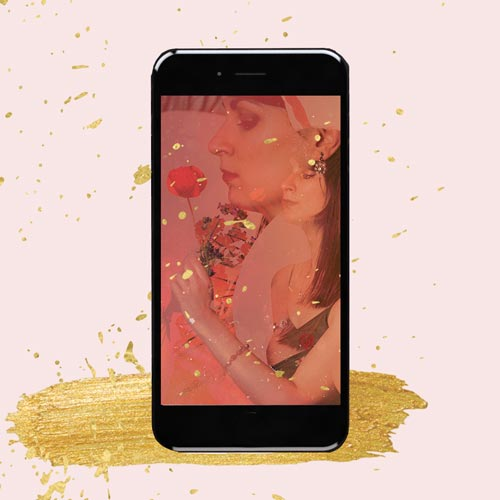 fashion shoot photo in phone