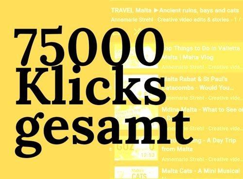 75000 Klicks insgesamt